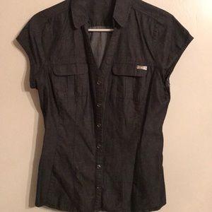 Dark Grey Button Down Express Shirt